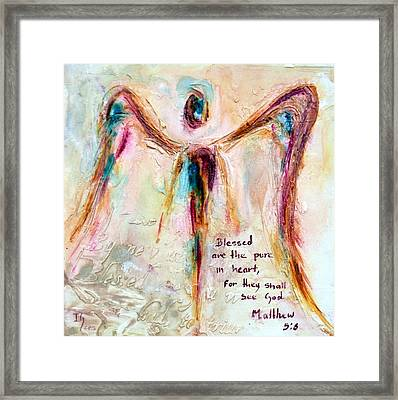 Pure In Heart Framed Print by Ivan Guaderrama