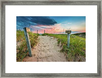 Framed Print featuring the photograph Pure Michigan Sunset by Sebastian Musial