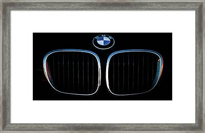 Pure Z3 - Bmw Z3 Grill And Roundel Framed Print