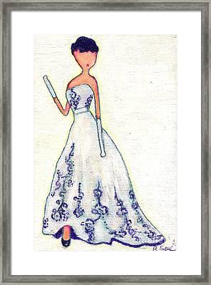 Purely Audrey Framed Print by Ricky Sencion