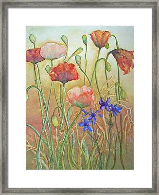 Purely Poppies Framed Print by Sandy Collier