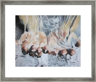 Purified Hands Framed Print
