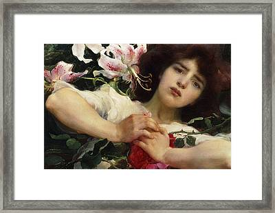 Purity And Passion Framed Print by Franz Dvorak