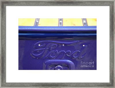 Purple 1936 Ford Truck With V8 Framed Print by Kathy Carlson