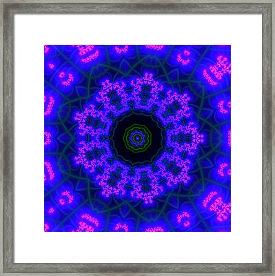 Purple 9 Lightmandala Framed Print