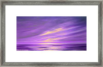 Purple Abstract Sunset Framed Print