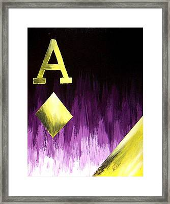 Purple Aces Poker Art2of4 Framed Print by Teo Alfonso