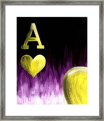 Purple Aces Poker Art3of4 Framed Print by Teo Alfonso