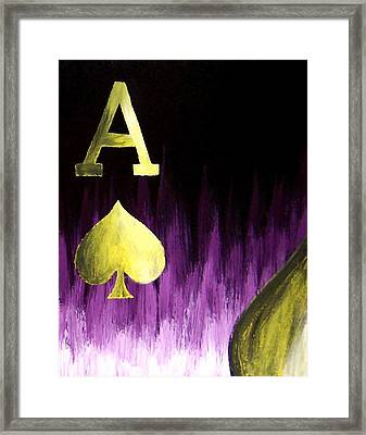 Purple Aces Poker Art4of4 Framed Print by Teo Alfonso