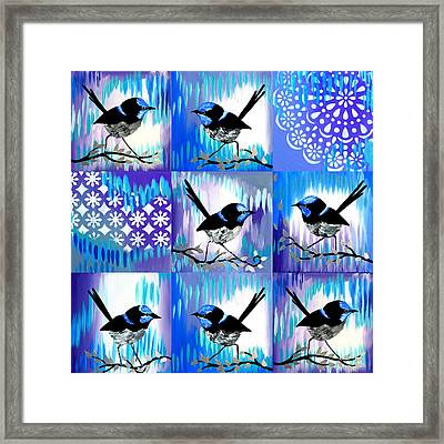 Purple And Blue Framed Print