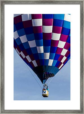 Purple And Blue Hot Air Balloon Framed Print by Teri Virbickis