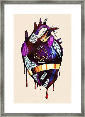 Royal Heart  Framed Print by Kenal Louis