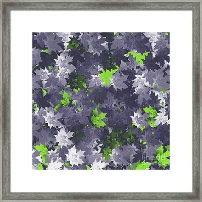 Framed Print featuring the digital art Purple And Green Leaves by Methune Hively
