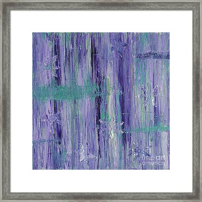 Purple And Teal  Framed Print by Patty Vicknair