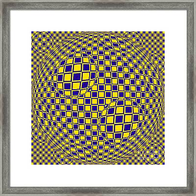 Purple And Yellow Sphere Untitled Framed Print