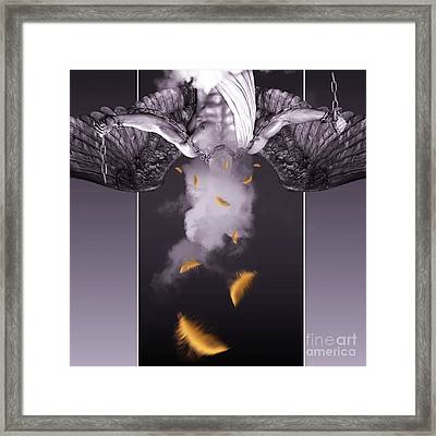 Purple  Angel  Framed Print