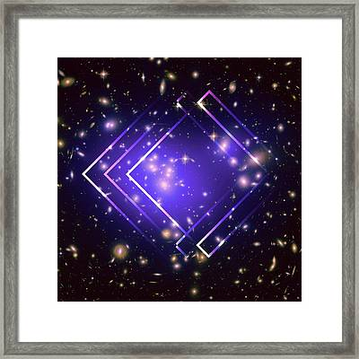 Purple Angles In Space Framed Print by Brandi Fitzgerald