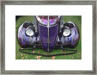 Purple Antique Ford Framed Print by Kathy M Krause