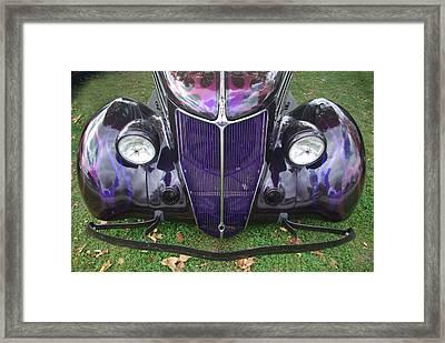 Purple Antique Ford Framed Print