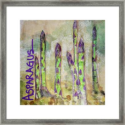 Purple Asparagus Framed Print