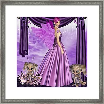 Framed Print featuring the digital art Purple Awareness by Digital Art Cafe
