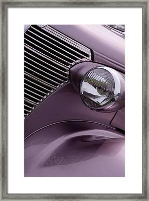 Purple Baby Framed Print by Rebecca Cozart