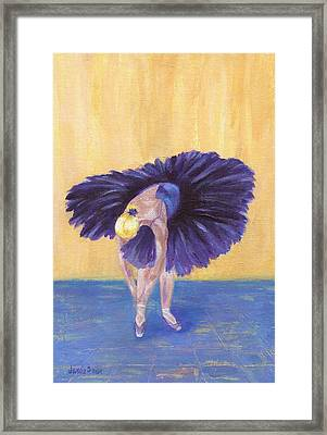 Framed Print featuring the painting Purple Ballerina by Jamie Frier