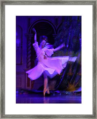 Purple Ballet Dancer Framed Print