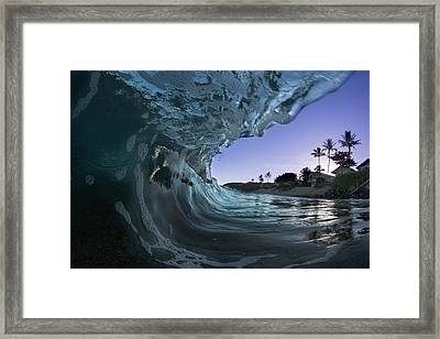 Purple Beach Eater Framed Print
