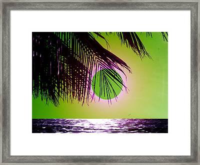 Purple Beach Framed Print by Juana Maria Garcia-Domenech