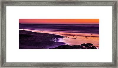 Purple Beach Framed Print