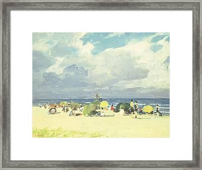 Purple Beach Scene Framed Print by Edward Henry Potthast