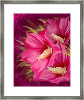 Framed Print featuring the painting Purple Beauty by Veronica Minozzi
