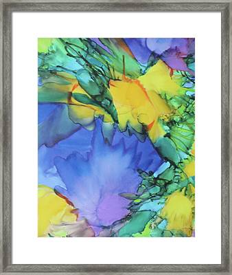Purple Bird Of Paradise Framed Print
