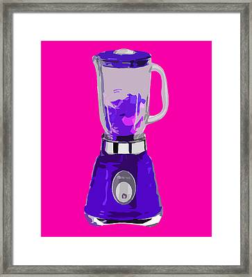 Purple Blender Framed Print by Peter Oconor