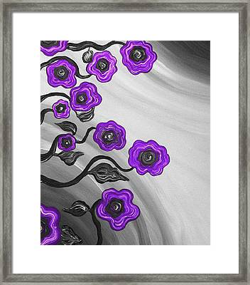 Purple Blooms Framed Print by Brenda Higginson