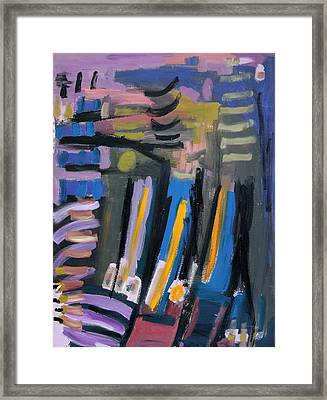 Purple Blue Abstract Framed Print by Maggis Art