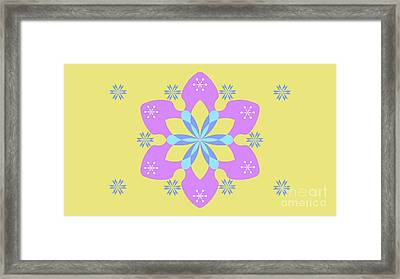 Purple, Blue And Yellow Abstract Star Framed Print by Pablo Franchi