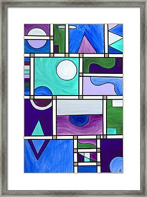 Purple-blue-green Abstract 1 Framed Print by Patty Vicknair