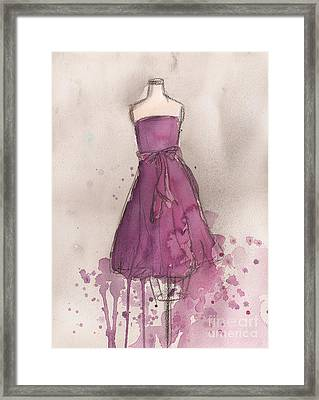 Purple Bow Dress Framed Print