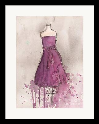 Magenta Dress Framed Prints