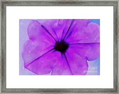 Purple Breeze Framed Print by Krissy Katsimbras