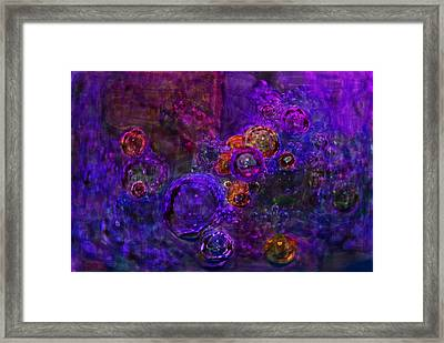 Purple Bubbles Painting Framed Print by Don  Wright
