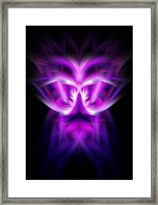 Framed Print featuring the photograph Purple Bug by Cherie Duran