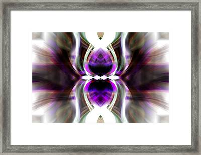Framed Print featuring the photograph Purple Butterfly by Cherie Duran