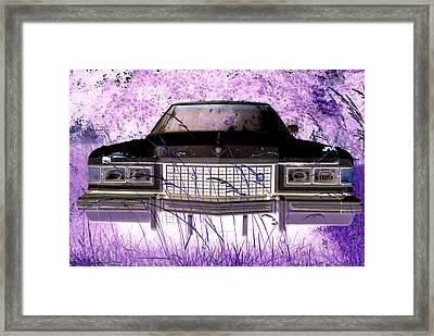 Purple Cadillac Framed Print by Julie Niemela