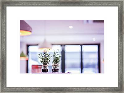 Purple Cafe Framed Print