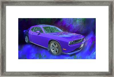 Purple Car - Challenger Framed Print by Nikolyn McDonald
