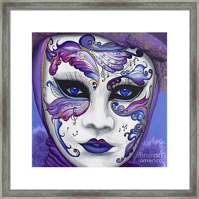 Purple Carnival Mask  Framed Print by Patty Vicknair