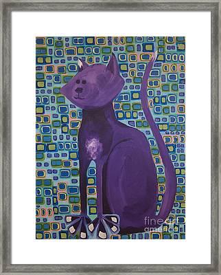Purple Cat Framed Print